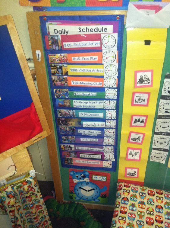 Classroom Start Up Ideas ~ Preschool head start class schedule my teaching