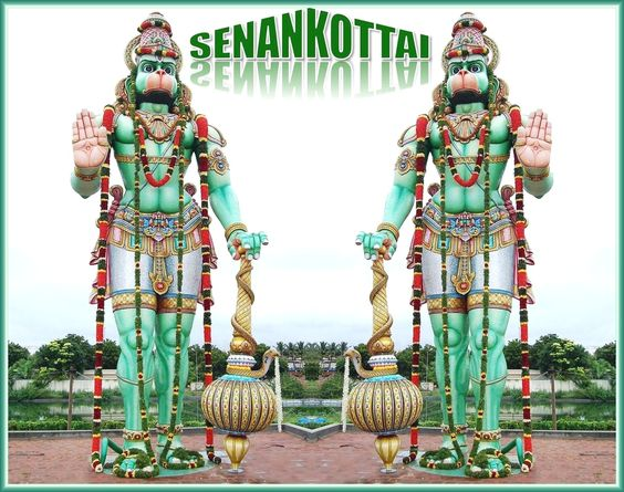 51 feet height tallest statue of Lord Anjaneyar Hanuman is located at Shri Bhaktha Anjaneyar Temple; Senankottai village belongs to Vedasandur tehsil under Dindigul district in the Indian state of Tamil Nadu. It is situated 22 kms towards north from district headquarters Dindigul and 440 kms from the state capital city Chennai. Shri Bhaktha Anjaneyar Temple was constructed on 8th March, 2008. Tallest sculpture of Shri Bhaktha Anjaneyar is situated above the shrine which resembles like a tomb