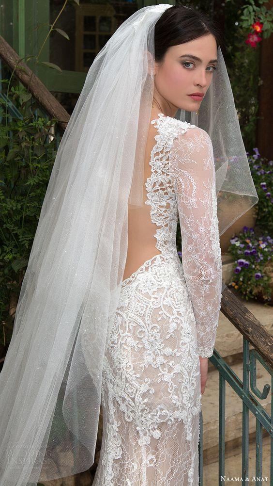 Low Back Wedding Dress With Veil : Naama anat wedding dresses primavera bridal