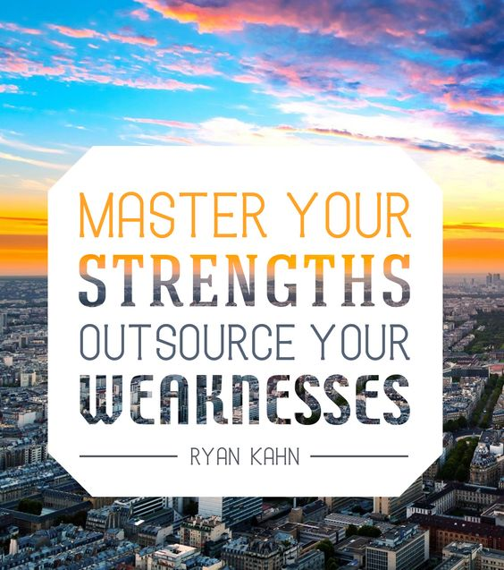 Developing Strength Motivational Quote: Master Your Strengths, Outsource Your Weaknesses