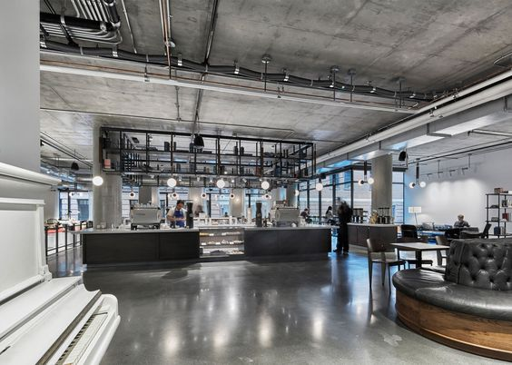 AvroKO Designs a Workplace Cafeteria for Dropbox.