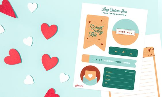 care package for partner printable