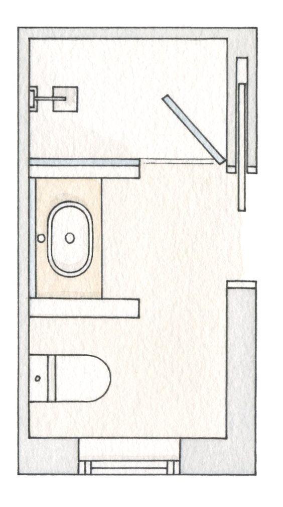 Baños Medidas Planos:baños pequeños con ducha muy bien resueltos · ElMueblecom