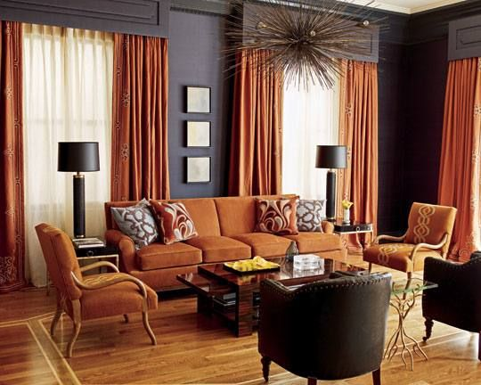Grey And Rust Themed Bedroom Ideas Burnt Orange Living Room Living Room Orange Living Room Colors Rust colored walls living room