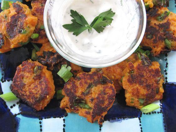 sauce yogurt sauce sweet potato cakes potato cakes greek yogurt yogurt ...