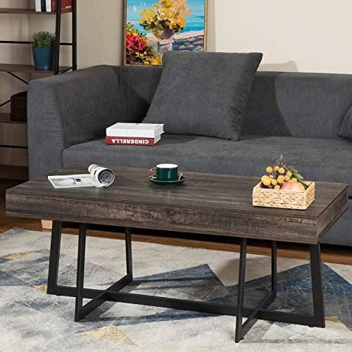 New Kicode Coffee Table Storage Drawer Rustic Coffee Table Living