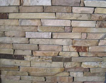 My parents are currently having their dream home built. We are all so excited to see how every little detail will turn out. They are going to have some stone incorporated into it just like this.