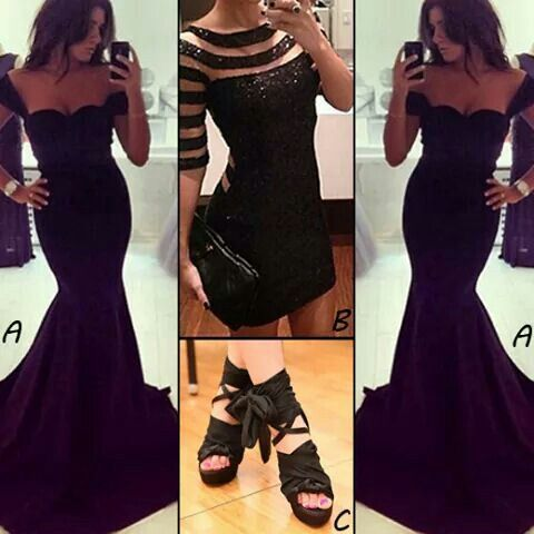Lovely black fashions