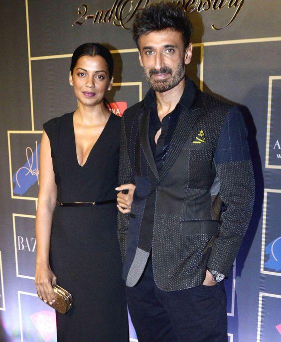 Mugdha Godse and Rahul Dev at the Harper Bazaar Bride's anniversary party. #Bollywood #Fashion #Style #Beauty #Hot