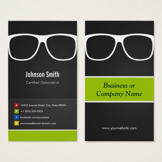 Certified Optometrist Optical Creative Innovative Business Card Zazzle Com In 2021 Innovative Business Cards Optometrist Id Design