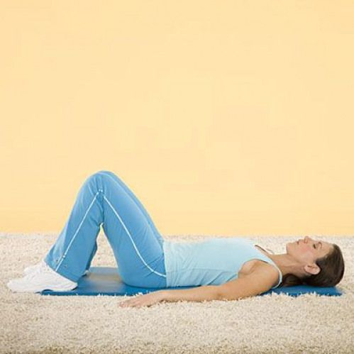 The Vacuum Lie Flat On Your Back With Your Knees Bent And Feet Flat On The Floor Take A Deep Breath That Exercise Abs Workout Abs Workout Routines