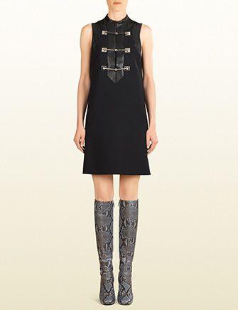 GUCCI Horsebit And Leather Sleeveless Dress