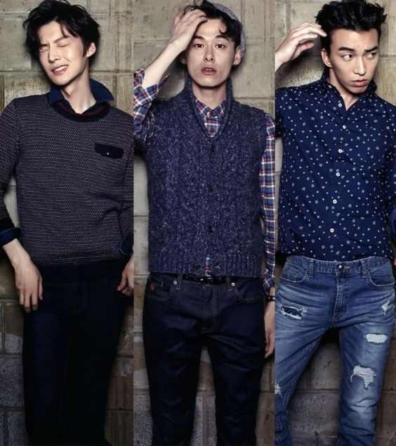 Kim Won Jung, Ahn Jae Hyun, Do Sang Woo for Arena Korea Sept 2014