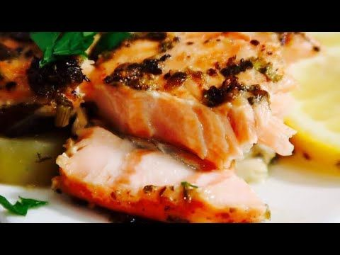 Baked Salmon Recipe With Potato طريقة عمل صينية سمك السلمون بالفرن مع البطاطس Egyptian Food Baked Salmon Recipes Easy Salmon Recipes