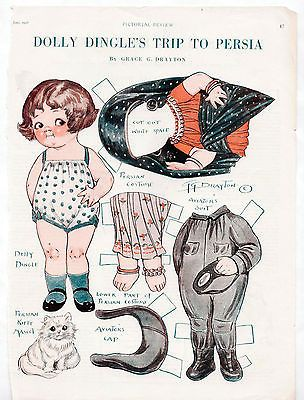 #Vintage dolly dingle's trip to persia #paper dolls 1928 uncut/persian #cat/kitty,  View more on the LINK: http://www.zeppy.io/product/gb/2/121974083647/