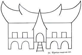 Hasil Gambar Untuk Sketsa Rumah Adat Sketsa Lukisan Rumah Gambar