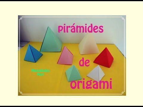 Cómo Hacer Una Pirámide De Papel Origami Paso A Paso Youtube Origami Make It Yourself Gaming Logos
