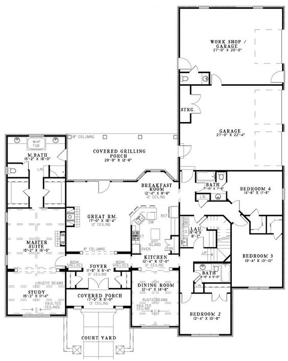 First Floor Image Of Fontana House Plan Almost Perfect Lots Of Space And Storage House