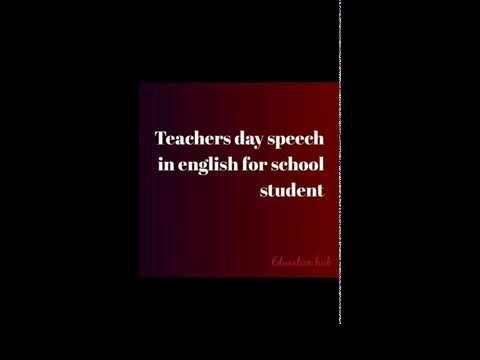 Teachers Day Speech In English For School Student And Essay On Teacher Teachers Day Speech Teachers Day School Student