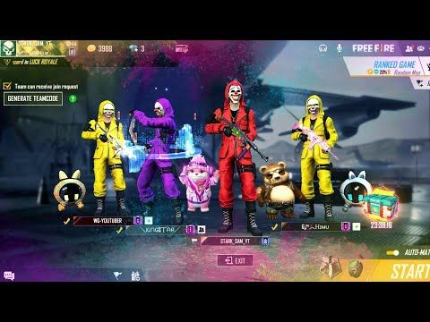 Our Complete Criminal Squad Criminal Bundle Full Squad Gameplay Garena Free Fire Youtube Download Cute Wallpapers Fire Image Background Images Wallpapers Wallpaper free fire tournament thumbnail