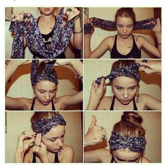 How to wear a scarf as a bandana