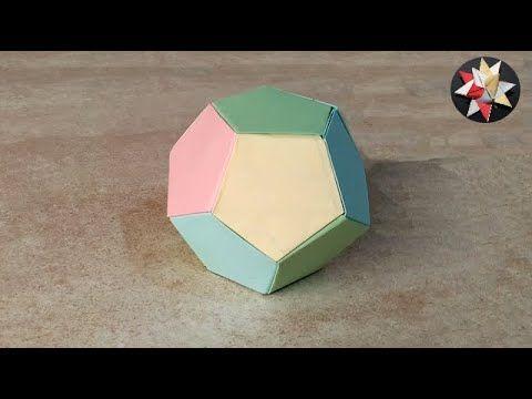 اشغال يدوية للاطفال بالورق الملون كيف تصنع كرة بالورق How To Make P Soccer Ball Soccer Ball