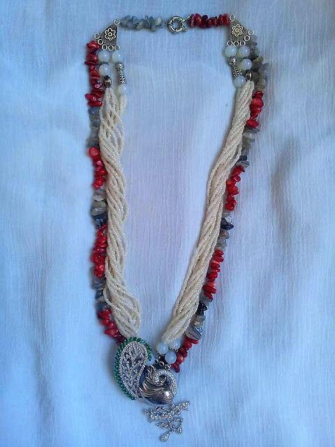 نموذج 1353 عقدmodel 1353 Necklace Beaded Necklace Beaded Crochet Necklace