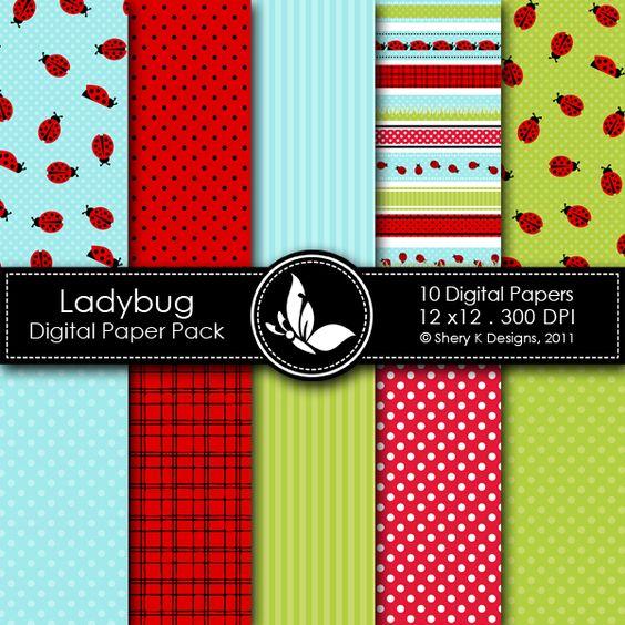 Ladybuy - 10 Digital papers