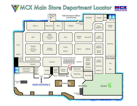 department store layout In 2003, us department store sales were surpassed by big-box store sales for the first time (though some stores may be classified as big box by physical layout and department store by merchandise.