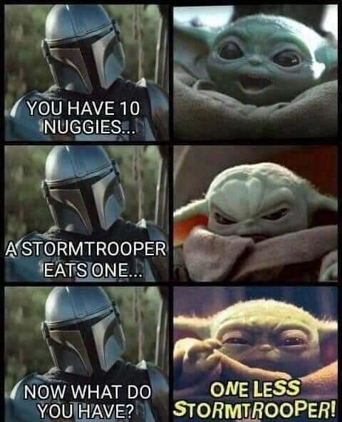 Mando Maths Mandalorianmemes Funny Star Wars Memes Star Wars Jokes Yoda Funny