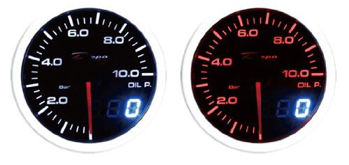 60mm Depo Racing Super White Amber Digital Oil Pressure Gauge Bar For More Information Visit Image Link This Is An Aff Gauges Oil Pressure Pressure Gauge