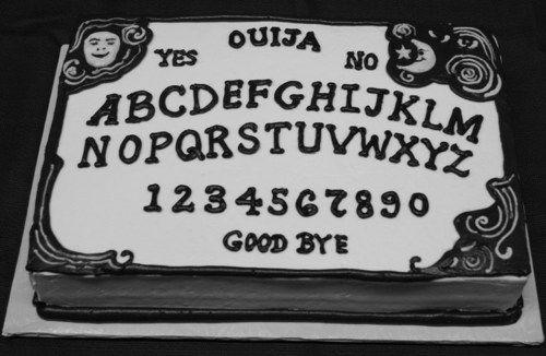 Ouija board cake..: