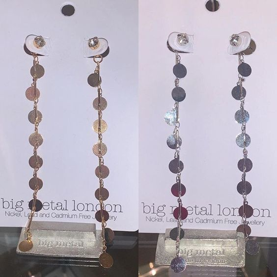 Sale Alert In Store Starting From Today All Big Metal London Jewellery Is Half Price Meaning You Can Get These Dangle Earrings For In 2020 Dangles Instagram Rose Gold