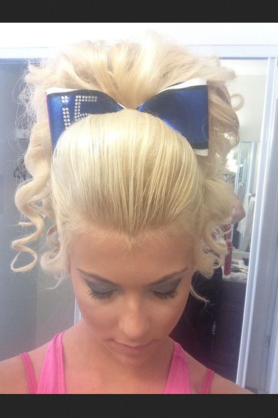 cool anime hairstyles : Hairstyles For Competition cheerleader cheerleading hair hairstyle ...