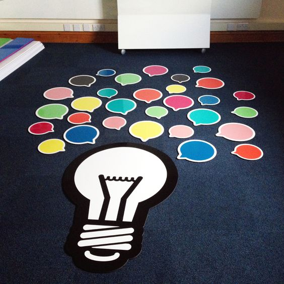 Speech bubble whiteboard, could be used as a message board in so many ways