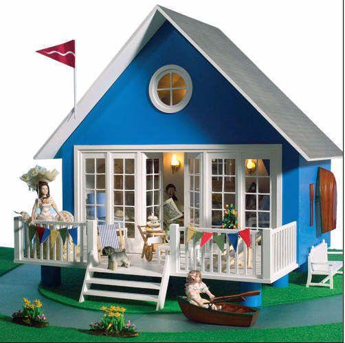 $115.00 Dolls House 1800 The Retreat Lodge kleines Puppenhaus Bausatz 56x47x52 cm NEU! # in Spielzeug, Puppenstuben & -häuser, Häuser | eBay