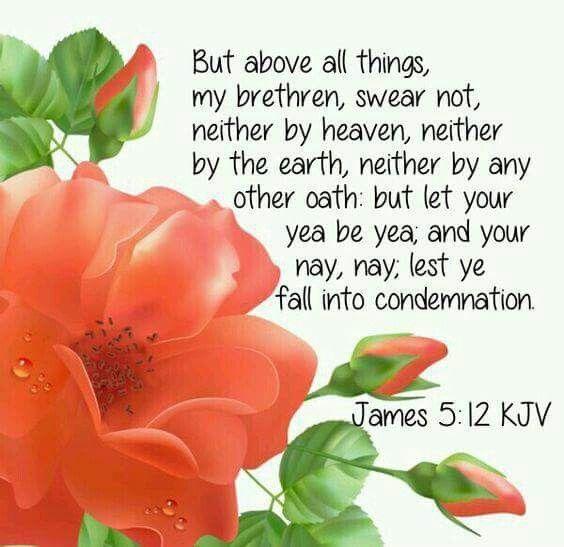 James 5:12 (KJV)