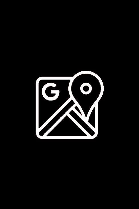 Google Maps Black App Android App Icon Google Maps Icon