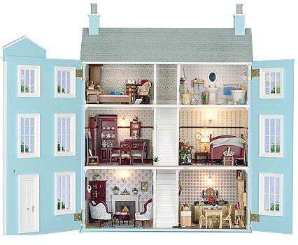 blue doll's house