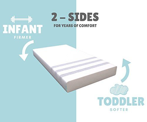 Stitch Cradle 2in1 Natural Foam Crib Mattress Toddler Bed Includes Waterproof Protector Non Toxic Brea Waterproof Protector Crib Mattress Cradle Bedding
