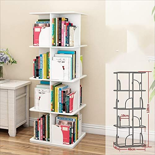 Huo Creative Rotating Bookshelf 360 Degree Simple Bookcase Modern Minimalist Bookshelf Bookshelf Book Minimalist Bookshelves Simple Bookcase Small Bookcase