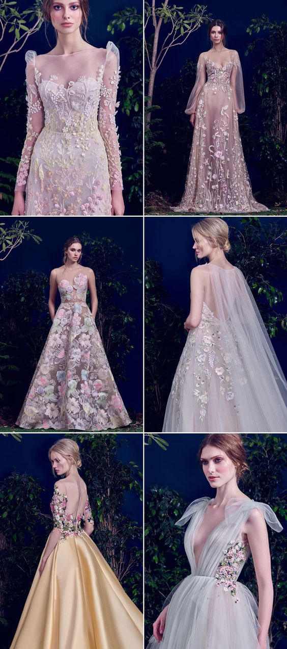 Save Full of Life! Breathtaking Wedding Dresses With Refreshing Botanical Details