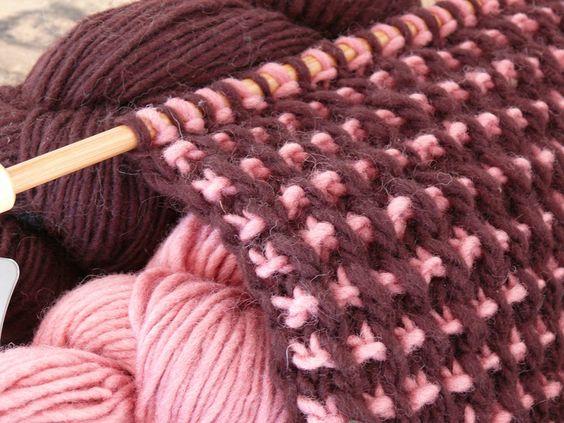 tricoter 2 mailles ensemble a l'endroit