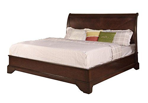 Soflex Abril Rich Espresso Finish Curved Headboard Platform Bed Classic Queen Bed Furniture Furniture Bed