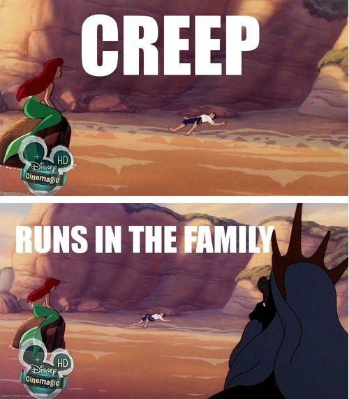 Creeping is hereditary.