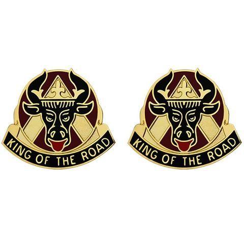 812th Transportation Battalion Unit Crest King Of The Road The Unit Battalion Army