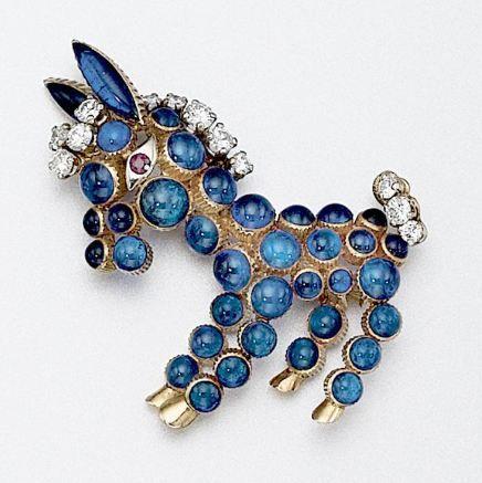 18 karat gold, enamel and diamond donkey brooch, Cartier – Sotheby's
