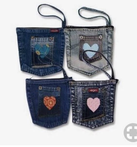 Pockets Reclaimed Blue Jean Coin Pockets Repurposing   Etsy