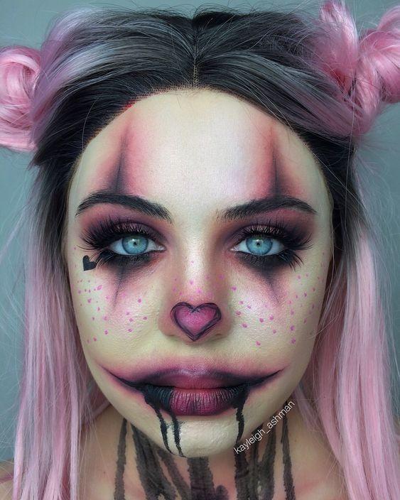 Maquillaje Halloween 2020 Mujer 45 gruselige Halloween Make up Ideen für dieses Jahr#Nails