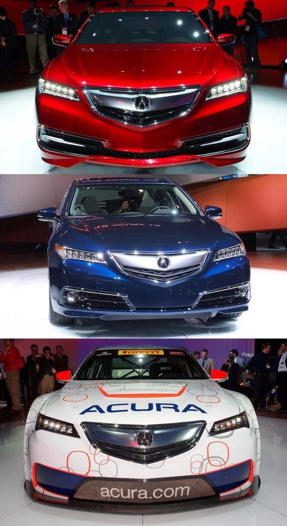 Concept To Reality Acura Tlx Prototype Vs Tlx Gt Racer Vs Real 2015 Tlx Production Car Acura Tlx Acura Cars Acura Tsx